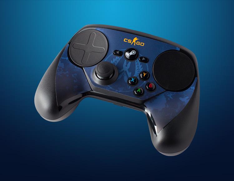 Комплект накладок CSGO Blue Camo для Steam Controller фото