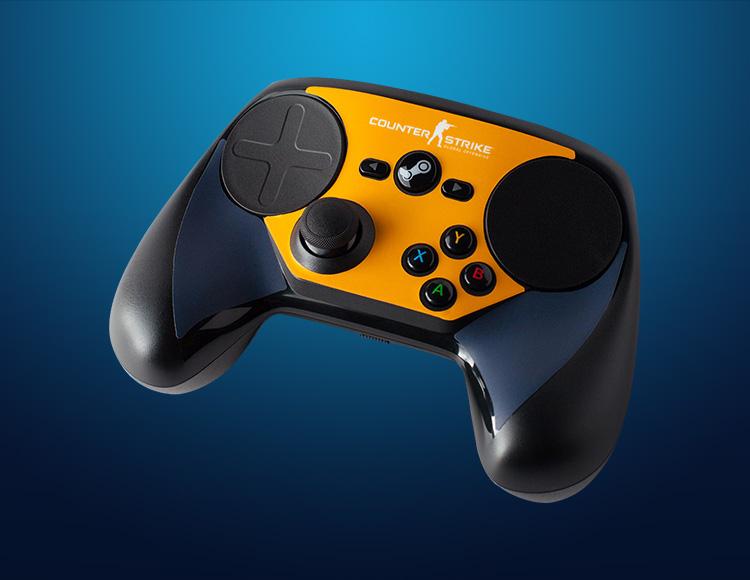 Комплект накладок CSGO Blue/Orange для Steam Controller фото