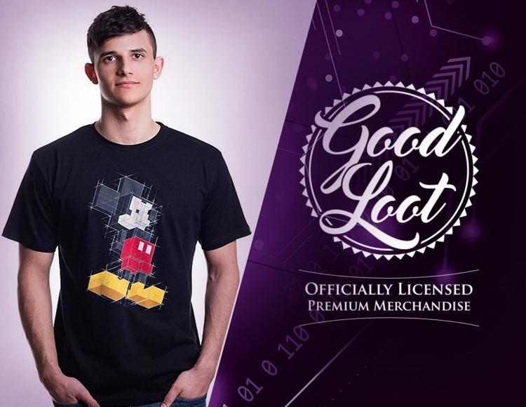 Мужская футболка Disney Mickey Pixels (Размер L) фото