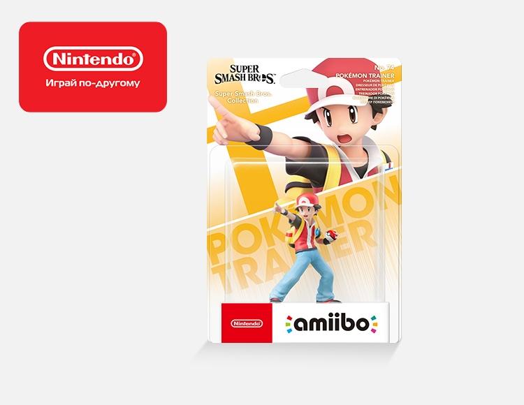 Фигурка amiibo Тренер Покемонов (коллекция Super Smash Bros.) фото