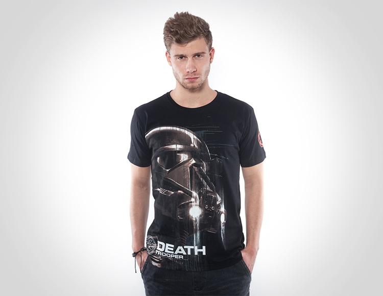 Мужская футболка Star Wars Death Trooper черная (Размер S) фото