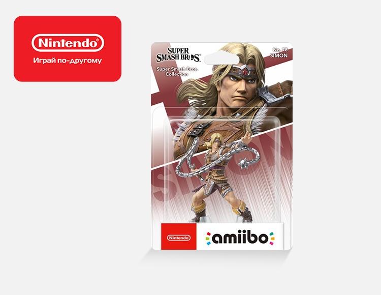 Фигурка amiibo Саймон (коллекция Super Smash Bros.) фото